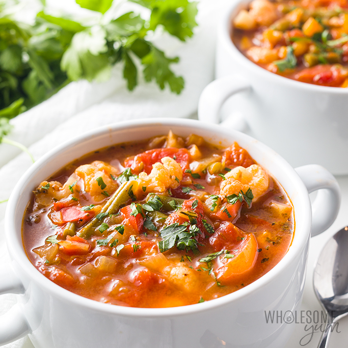 The Best Keto Low Carb Vegetable Soup Recipe