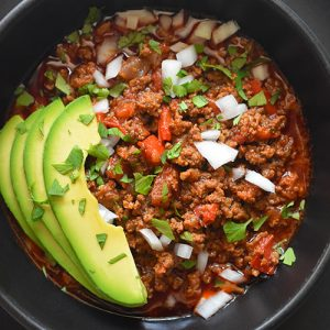 Instant Pot Ground Beef Chili