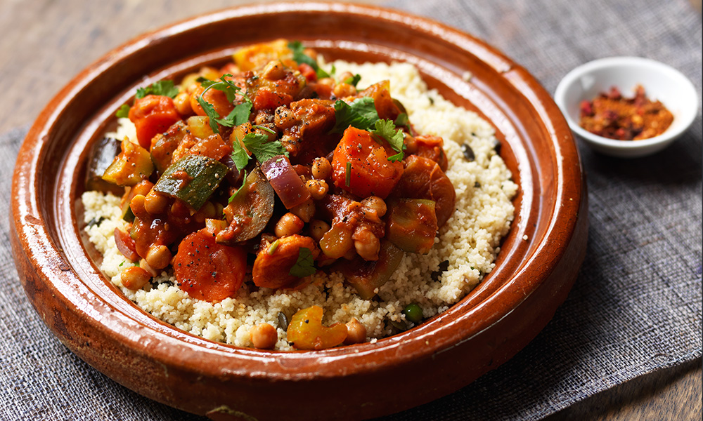 Vegetable and chickpea tagine